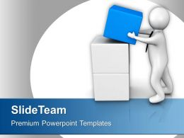 3d Man Found The Cube Business PowerPoint Templates PPT Themes And Graphics 0213