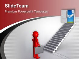 3d Man Found The Opportunity Door PowerPoint Templates PPT Themes And Graphics 0213