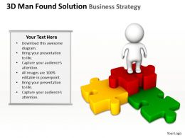 3D Man Found the Solution Business Strategy Ppt Graphics Icons