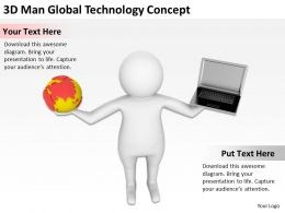 3D Man Global Technology Concept Ppt Graphics Icons