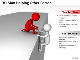 3D Man Helping Other Person Ppt Graphics Icons Powerpoint