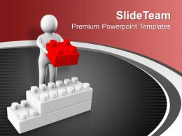 3d Man Holding Block Business PowerPoint Templates PPT Themes And Graphics 0213
