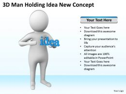 3D Man Holding Idea New Concept Ppt Graphics Icons Powerpoint