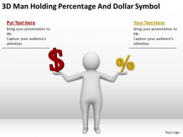 3D Man Holding Percentage And Dollar Symbol Ppt Graphics Icons Powerpoint