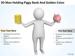 3d_man_holding_piggy_bank_and_golden_coins_ppt_graphics_icons_Slide01