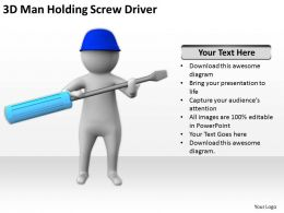 3d_man_holding_screw_driver_ppt_graphics_icons_powerpoint_Slide01
