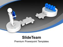 3d Man Holds Puzzle To Reach Goal Powerpoint Templates Ppt Themes And Graphics 0113