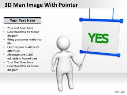 3D Man Image With Pointer Ppt Graphics Icons