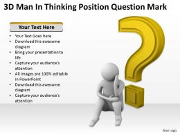 3D Man In Thinking Position Question Mark Ppt Graphics Icons Powerpoint