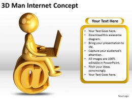 3d Man Internet Concept Ppt Graphics Icons Powerpoint
