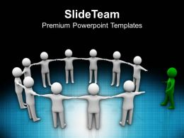 3d Man Joining Team Leadership PowerPoint Templates PPT Themes And Graphics 0213