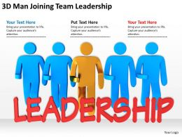3D Man Joining Team Leadership Ppt Graphics Icons Powerpoint
