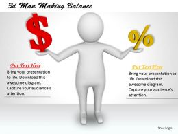 3d Man Making Balance Ppt Graphics Icons Powerpoint