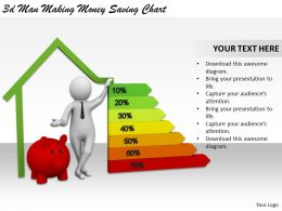 3d Man Making Money Saving Chart Ppt Graphics Icons Powerpoint