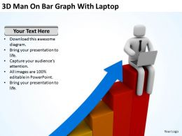 3d_man_on_bar_graph_with_laptop_ppt_graphics_icons_Slide01
