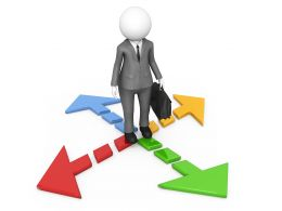 3d_man_on_four_multicolored_multidirectional_arrows_stock_photo_Slide01