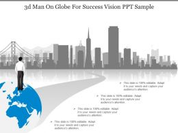 3d Man On Globe For Success Vision Ppt Sample