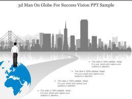 3d_man_on_globe_for_success_vision_ppt_sample_Slide01