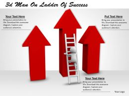 3d Man On Ladder Of Success Ppt Graphics Icons Powerpoint