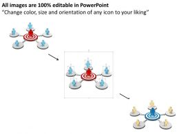 3d_man_on_target_board_connected_with_network_powerpoint_template_Slide02