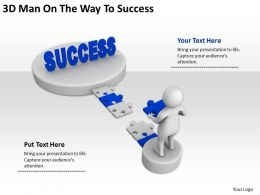 3D Man On The Way To Success Ppt Graphics Icons Powerpoint