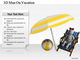 3d Man On Vacation Ppt Graphics Icons Powerpoint
