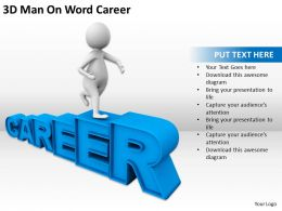 3D Man On Word Career Ppt Graphics Icons Powerpoint