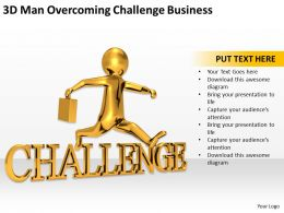 3D Man Overcoming Challenge Business Ppt Graphics Icons Powerpoin