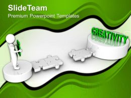 3d Man Path To Creativity Business Powerpoint Templates Ppt Themes And Graphics 0113