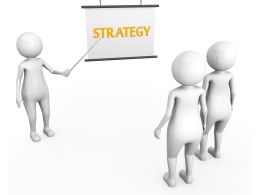 3D Man Pointing And Teaching Strategy To Team Stock Photo