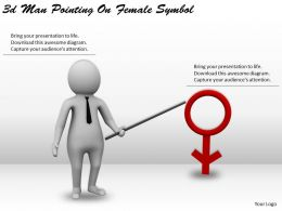 3d Man Pointing On Female Symbol Ppt Graphics Icons Powerpoint