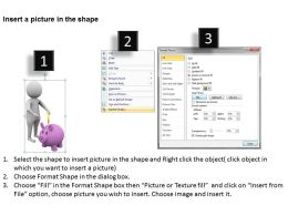 3D Man Putting Coin In Piggy Bank Ppt Graphics Icons Powerpoint