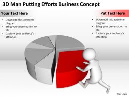 3D Man Putting Efforts Business Concept Ppt Graphics Icons Powerpoint