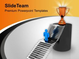 3d Man Reaching To The Trophy PowerPoint Templates PPT Themes And Graphics 0213