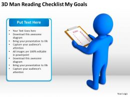 3d_man_reading_checklist_my_goals_ppt_graphics_icons_powerpoint_Slide01