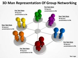3D Man Representation Of Group Networking Ppt Graphics Icons
