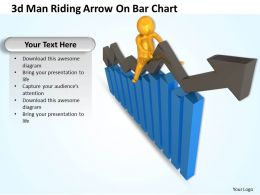 3d_man_riding_arrow_on_bar_chart_ppt_graphics_icons_powerpoint_Slide01