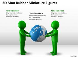 3D Man Rubber Miniature Figures Ppt Graphics Icons