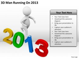 3D Man Running On 2013 Ppt Graphics Icons Powerpoint