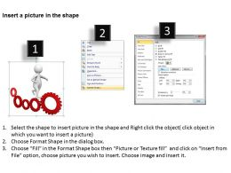 3D Man Running On Gears Ppt Graphics Icons Powerpoint