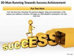3D Man Running Towards Success Achievement Ppt Graphics Icons Powerpoin