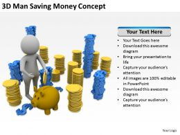 3D Man Saving Money Concept Ppt Graphics Icons Powerpoint