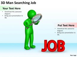 3D Man Searching Job Ppt Graphics Icons Powerpoint