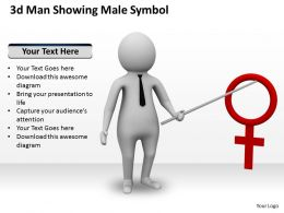 3d Man Showing Male Symbol Ppt Graphics Icons Powerpoint