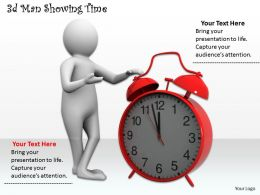 3d Man Showing Time Ppt Graphics Icons Powerpoint