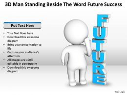 3D Man Standing Beside The Word Future Success Ppt Graphic Icon