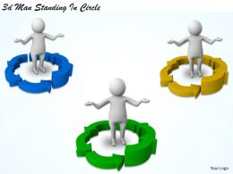 3d Man Standing In Circle Ppt Graphics Icons Powerpoint