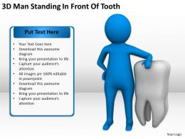 3D Man Standing In Front Of Tooth Ppt Graphics Icons Powerpoint