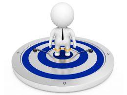 3d_man_standing_on_blue_target_dart_with_locked_legs_stock_photo_Slide01