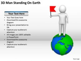 3D Man Standing On Earth Ppt Graphics Icons Powerpoint
